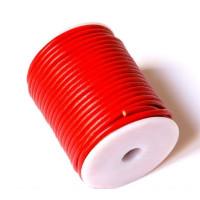 Cordón cuero rojo 4 mm ( 1 metro)