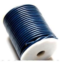 Cordón cuero azulon 4 mm ( 1 metro)