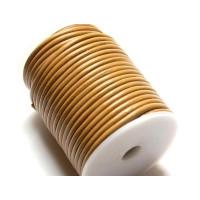 Cordón cuero marron claro 4 mm ( 1 metro)