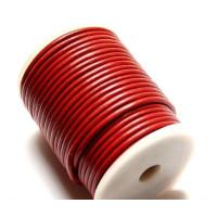 Cordón cuero burdeos 4 mm ( 1 metro)