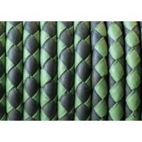 Cuero trenzado  Denver 5 mm Tonos verdes ( 20 cm)