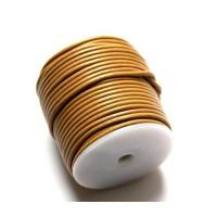 Cordón cuero color naranja 2.5 mm ( 1 metro)