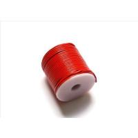 Cordón cuero color rojo 1.5 mm ( 1 metro)