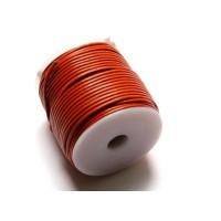 Cordón cuero color naranja 1.5 mm ( 1 metro)