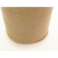 Cordón cuero color kaki 1,5 mm ( 1 metro)