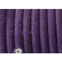 Cuero redondo 5 mm hueco PIEL SERRAJE color MORADO  (20 cm)