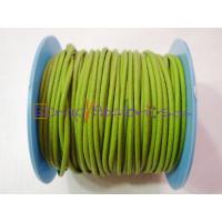 Cuero nacional alta calidad 2 mm color pistacho (1 metro)