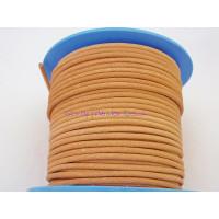 Cuero nacional alta calidad 2 mm color natural (1 metro)