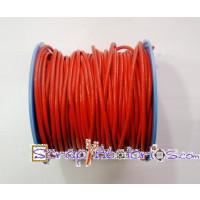 Cuero nacional alta calidad 2 mm color naranja ( 1 metro)