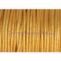 Cuero nacional alta calidad 2 mm color ORO METALIZADO( 1 metro)