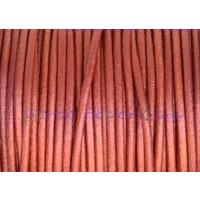 Cuero nacional alta calidad 2 mm color COBRE METALIZADO 1 metro)