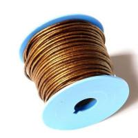 Cuero nacional alta calidad color oro viejo 2 mm (1 metro)
