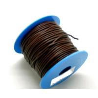 Cuero nacional alta calidad 1 mm color marron ( 1 m)