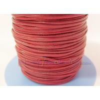 Cuero nacional alta calidad 1 mm color rojo (1 metro)
