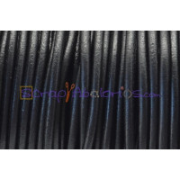 Cuero nacional alta calidad 3mm color NEGRO  (1 metro)