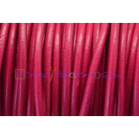 Cuero nacional alta calidad 3mm color FUCSIA(1 metro)