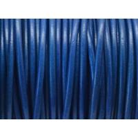 Cuero nacional alta calidad 3mm color AZULON (1 metro)