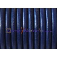 Cuero nacional alta calidad 4 mm color AZUL MARINO (1 metro)
