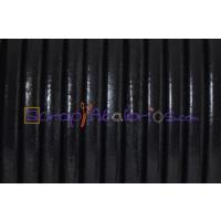 Cuero nacional alta calidad 4 mm color NEGRO (1 metro)