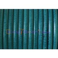 Cuero nacional alta calidad 4 mm color TURQUESA (1 metro)