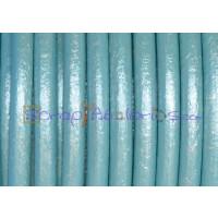 Cuero nacional alta calidad 4.5 mm color VERDE MAR METALIZ (1 m)