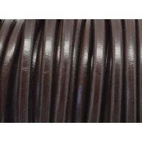 Cuero nacional alta calidad 5 mm color MARRON OSCURO (1 metro)