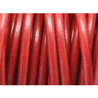 Cuero nacional alta calidad 5 mm color ROJO (1 metro)