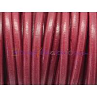 Cuero nacional alta calidad 5 mm color  GRANATE  (1 m)