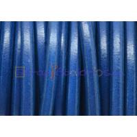 Cuero nacional alta calidad 5 mm color AZUL VIVO (1 metro)