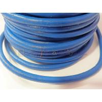 Cuero nacional alta calidad 5 mm color AZUL DUCADOS (1 metro)