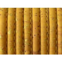 Cordón corcho cosido redondo 4 mm. Color yema (20 cm)