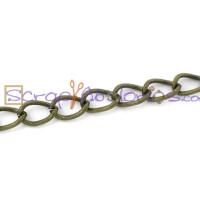 Cadena bronce eslabon plano 5.5x3.5mm - 1 metro