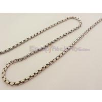 Cadena latón serpiente oval 2.3 mm baño plata de ley ( 50 cm)