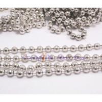 Cadena bolas bañada en plata- Bola 4.5 mm- Seccion 50 cm