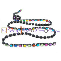 Cadena acrilica con strass multicolor 3.5 mm ( 50 cm)