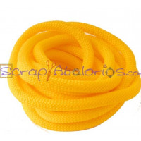 Cuerda escalada 10 mm grosor. Color amarillo. (90 cm)