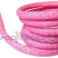 Cuerda escalada brillantina 10 mm grosor. Color fucsia  (90 cm)