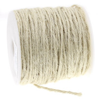 Cordon cuerda esparto yute 1 mm. Color natural  ( 1 m)