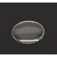 Cabochon gota flexible plastico  redondo 12 mm ( 5 uds)