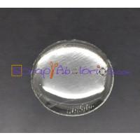Cabochon gota flexible plastico  redondo 14 mm ( 5 uds)