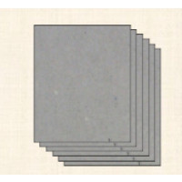Carton contracolado GRIS encuadernar- Grosor 1.0 mm- 16x16cm