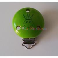 Pinza chupetero madera 50x34 mm - Principe verde