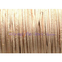 Cuero piel canguro redondo 1 mm . Color natural (1 m)