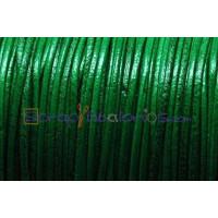 Cuero piel canguro redondo 1 mm . Color verde (1 m)