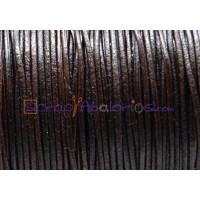 Cuero piel canguro redondo 1 mm . Color marrón oscuro (1 m)