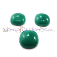 Piedra cristal murano cuadrado 15x15 mm color verde