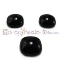 Piedra cristal murano cuadrado 15x15 mm color negro