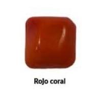 Piedra cristal de murano cuadrada 25x25 mm color rojo