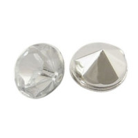 Cristal chaton  strass piramidal 2 mm CRISTAL, 1 gramo