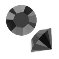 Chaton xilion cristal Swarovsky SS29 jet hematite 6 mm